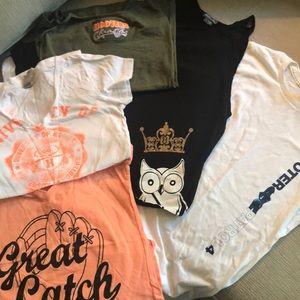 Lot of Hooters Memorabilia Shirts